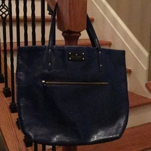♠️ Kate Spade Blue Patent leather tote ♠️
